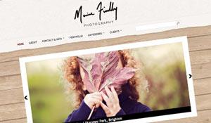 Photographer Marisa Findlay : Web design