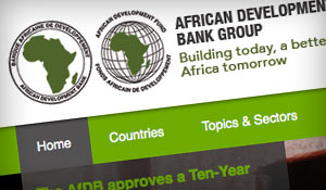 African Development Bank : Web design